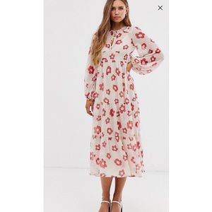 ASOS long sleeve floral maxi dress